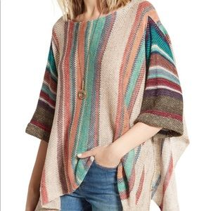 Free People Multi Colored Poncho